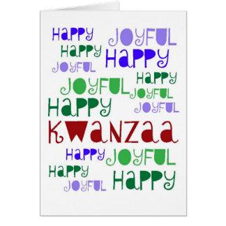 Tarjeta de Kwanzaa