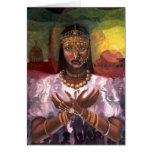 """Tarjeta de Kwanzaa de la """"majestad africana"""""""