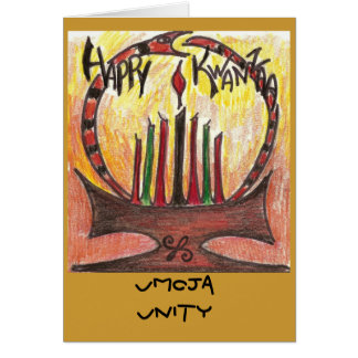 tarjeta de Kwanzaa, unidad de Umoja