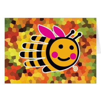 Tarjeta de la abeja