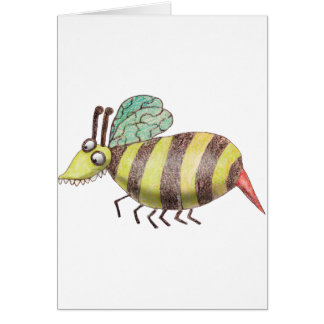 Tarjeta de la abeja de Katie