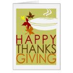 tarjeta de la acción de gracias
