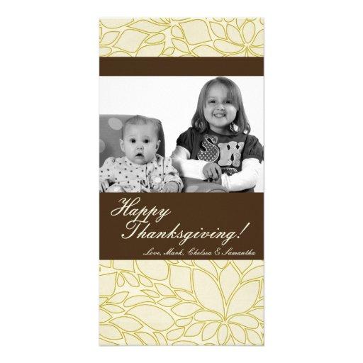 tarjeta de la acción de gracias de la FOTO del fol Tarjetas Fotograficas Personalizadas