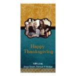 tarjeta de la acción de gracias del follaje del tr tarjetas fotográficas personalizadas