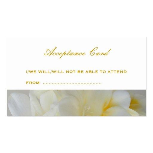 Tarjeta de la aceptación tarjetas personales