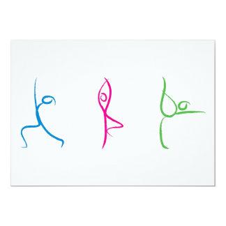 """Tarjeta de la actitud de la yoga invitación 5"""" x 7"""""""