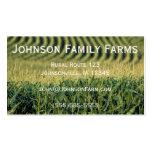 Tarjeta de la agricultura plantilla de tarjeta de negocio