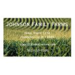 Tarjeta de la agricultura tarjeta de visita