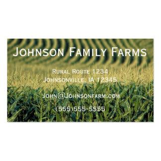 Tarjeta de la agricultura tarjetas de visita