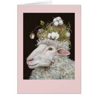 tarjeta de la algodón