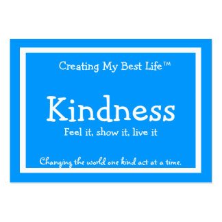 Tarjeta de la amabilidad - azul tarjetas de visita grandes