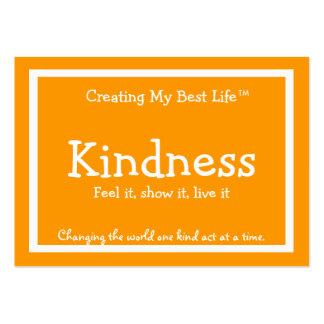 Tarjeta de la amabilidad - naranja y oro tarjetas de visita grandes