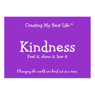 Tarjeta de la amabilidad - púrpura y lavanda tarjetas de visita grandes