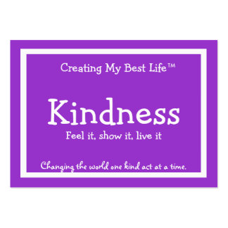 Tarjeta de la amabilidad - púrpura y lavanda - v2 tarjetas de visita grandes