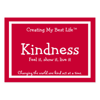 Tarjeta de la amabilidad - rojo tarjetas de visita grandes