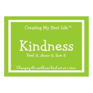 Tarjeta de la amabilidad - verde tarjetas de visita grandes