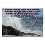 Tarjeta de la amabilidad y del Valor-Saludo