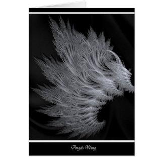 Tarjeta de la amistad de las alas de los ángeles