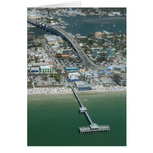 Tarjeta de la antena de la playa de fuerte Myers