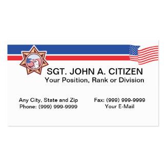 tarjeta de la aplicación de ley del ayudante del plantilla de tarjeta personal