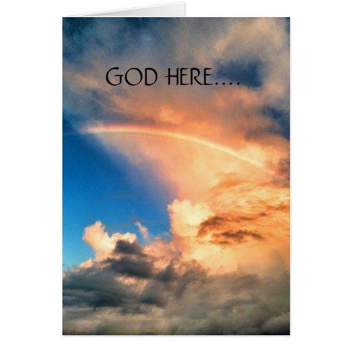 Tarjeta de la aquí-lesbiana de dios