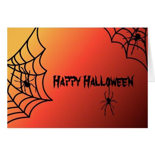 Tarjeta de la araña de Halloween
