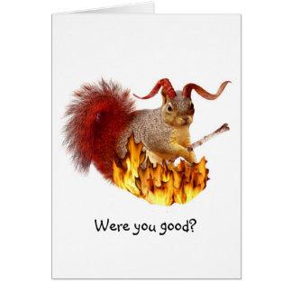 Tarjeta de la ardilla de Krampus
