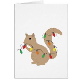 Tarjeta de la ardilla del navidad