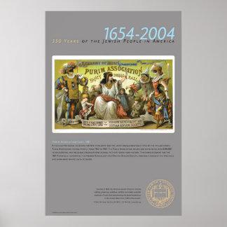 Tarjeta de la asociación de Purim, 1881 Póster
