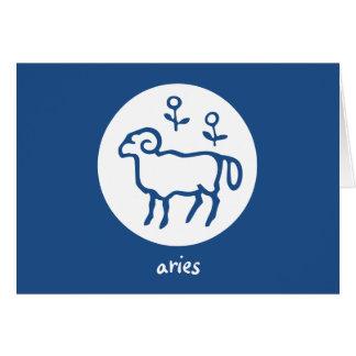 Tarjeta de la astrología del horóscopo del zodiaco