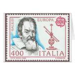 Tarjeta de la astronomía de Galileo Galilei