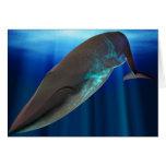 Tarjeta de la ballena azul