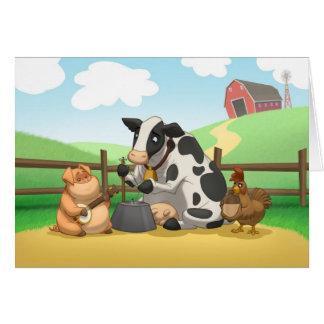 Tarjeta de la banda de jarro del animal del campo
