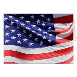 Tarjeta de la bandera americana