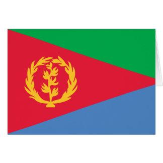Tarjeta de la bandera de Eritrea