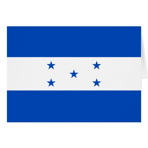 Tarjeta de la bandera de Honduras