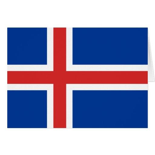 Tarjeta de la bandera de Islandia