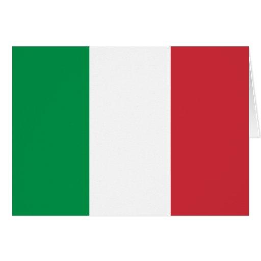 Tarjeta de la bandera de Italia