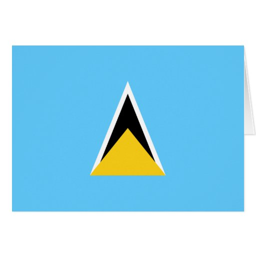 Tarjeta de la bandera de la Santa Lucía