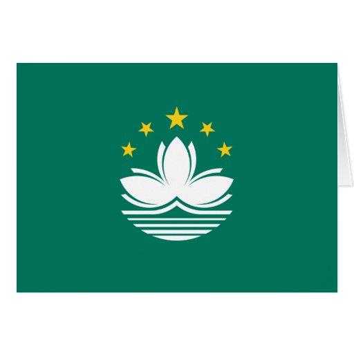 Tarjeta de la bandera de Macao