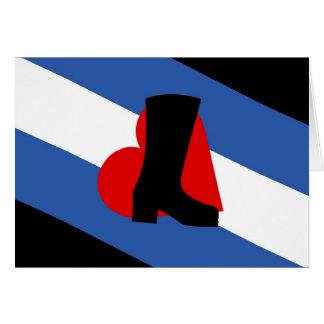 Tarjeta de la bandera del Bootblack