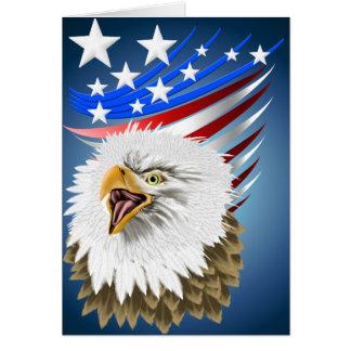 Tarjeta de la bandera N Eagle