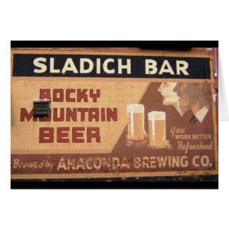 Tarjeta de la barra de Sladich