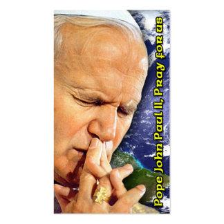 Tarjeta de la beatificación de Juan Pablo II Plantilla De Tarjeta Personal