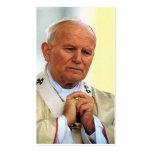 Tarjeta de la beatificación de Juan Pablo II Plantillas De Tarjeta De Negocio
