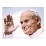 Tarjeta de la beatificación del rezo de Juan Pablo Postales