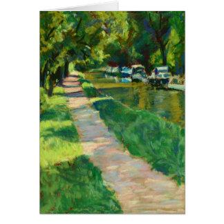 Tarjeta de la bella arte - Towpath del canal