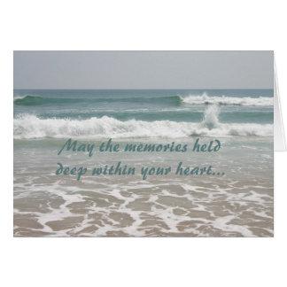 Tarjeta de la belleza del océano de la condolencia