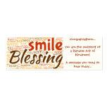 Tarjeta de la bendición (acto al azar de la amabil tarjeta de visita