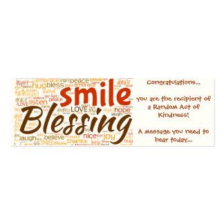 Tarjeta de la bendición acto al azar de la amabil tarjeta de visita
